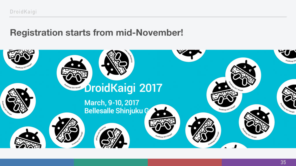 DroidKaigi Registration starts from mid-Novembe...