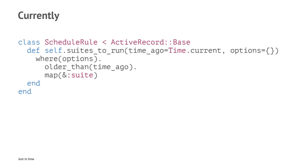 Currently class ScheduleRule < ActiveRecord::Ba...