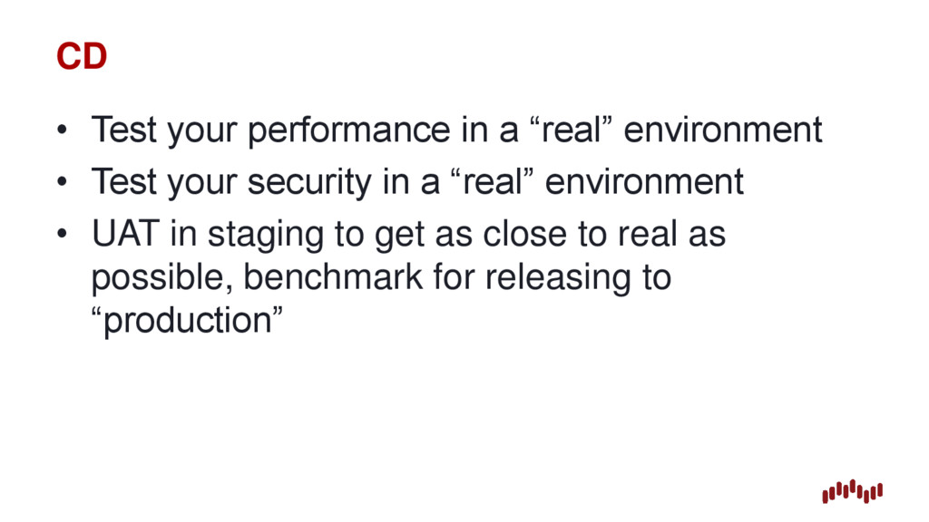 """CD • Test your performance in a """"real"""" environm..."""