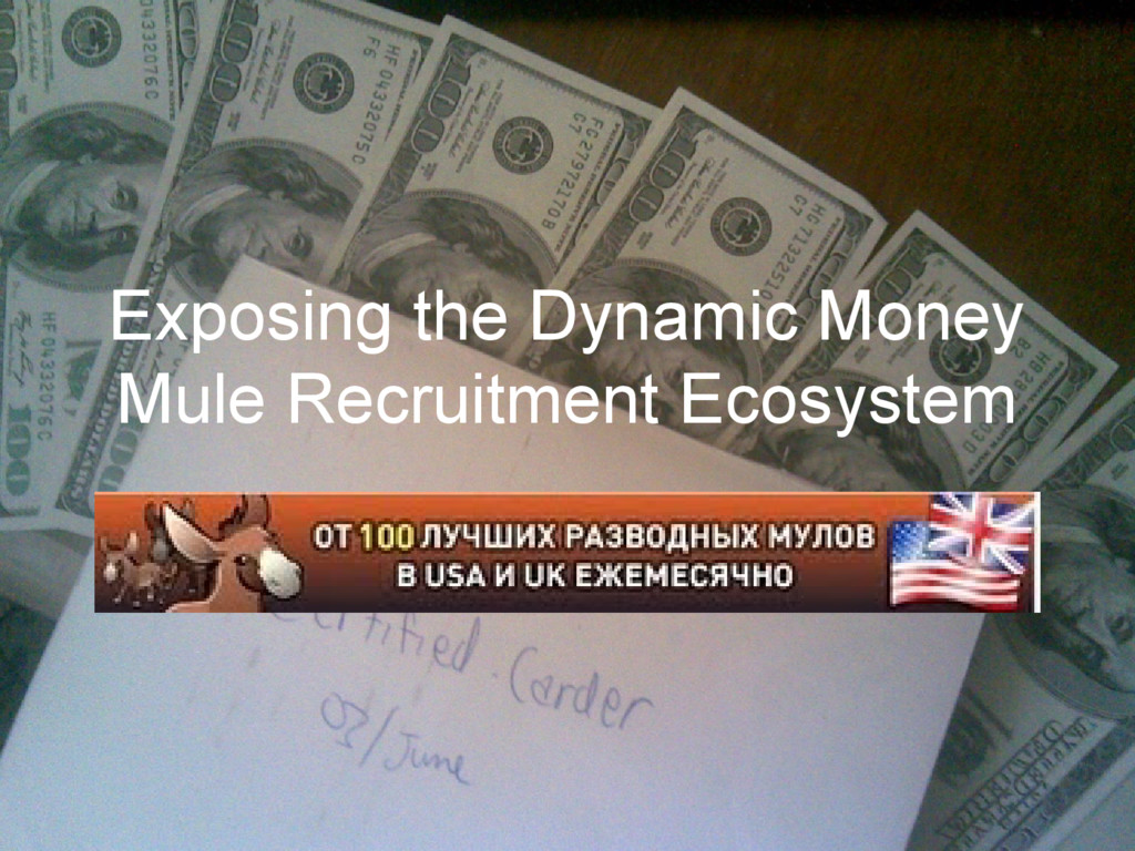 Exposing the Dynamic Money Mule Recruitment Eco...