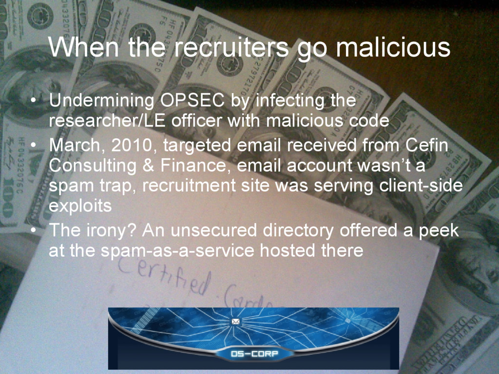When the recruiters go malicious • Undermining ...