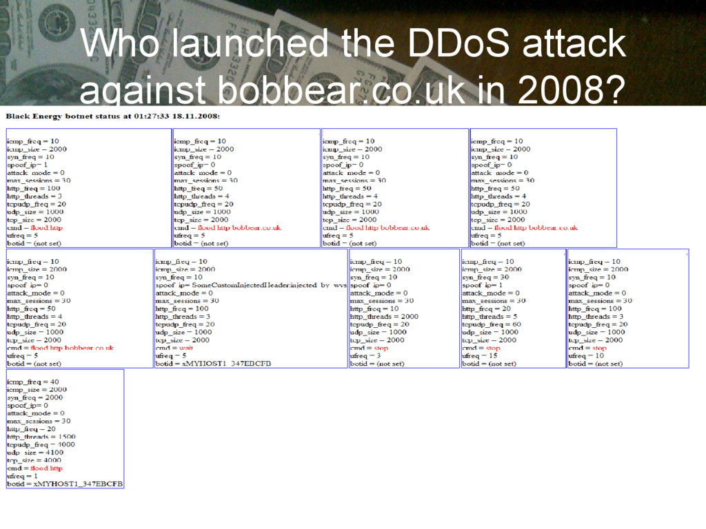 Who launched the DDoS attack against bobbear.co...