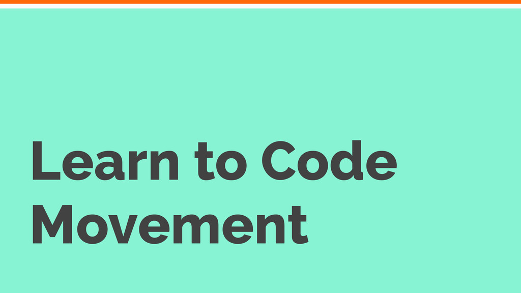 Learn to Code Movement