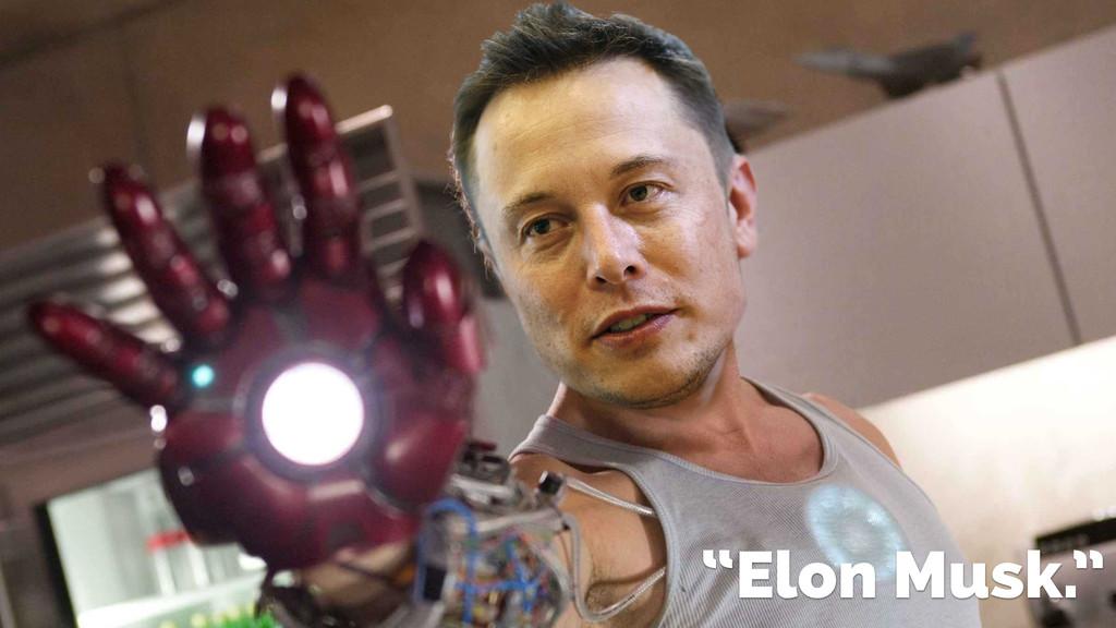 """""""Elon Musk."""""""