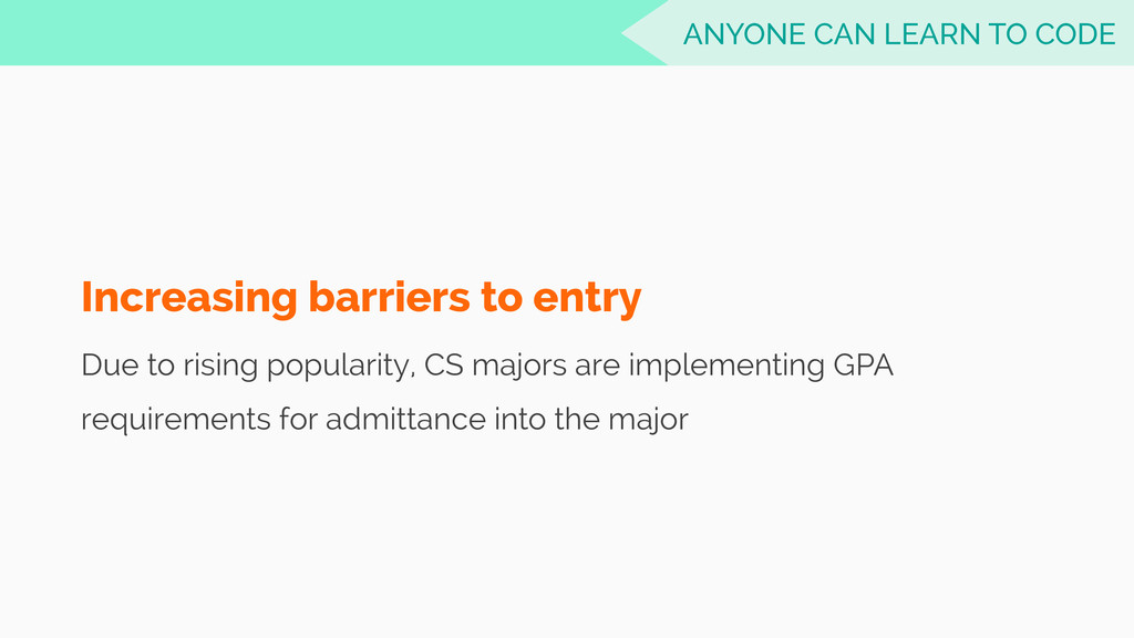 Increasing barriers to entry Due to rising popu...