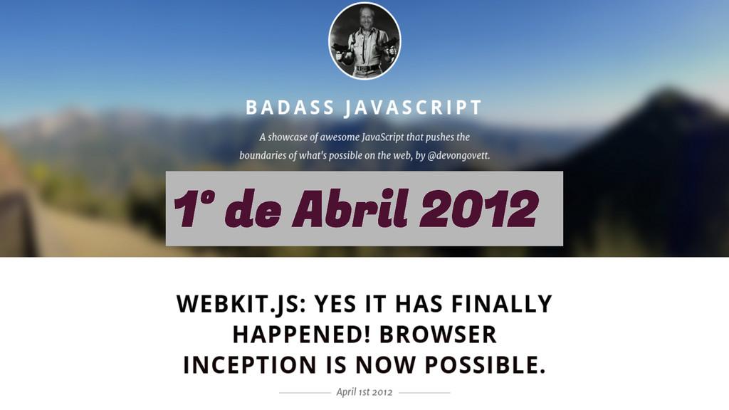 1º de Abril 2012