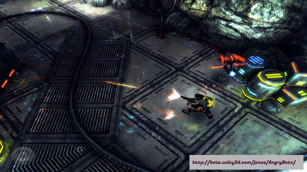 http://beta.unity3d.com/jonas/AngryBots/