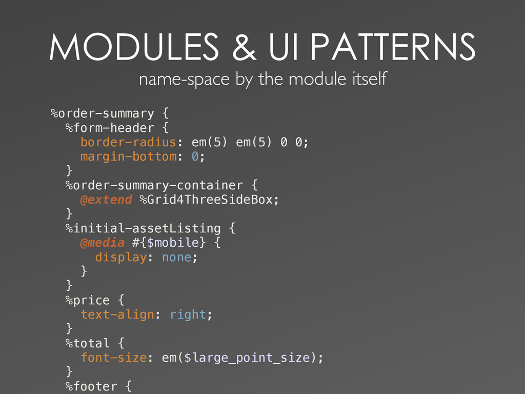 name-space by the module...