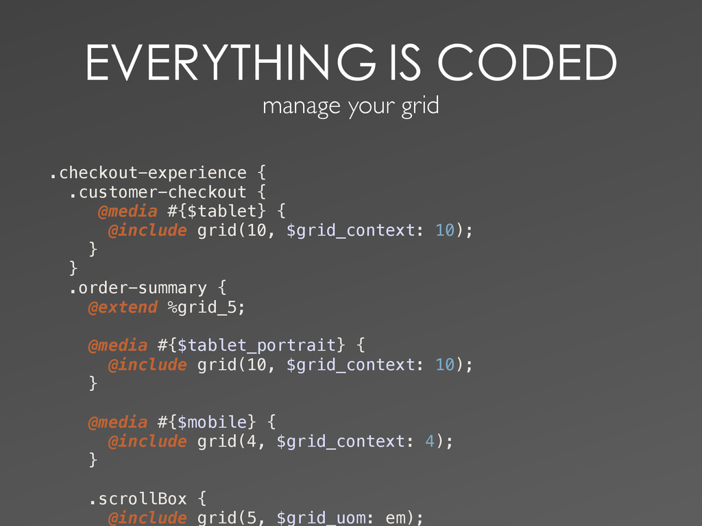 manage your grid .checkout...