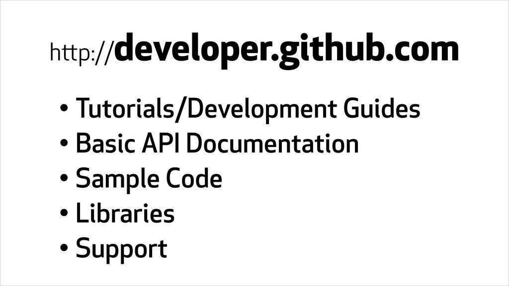 • Tutorials/Development Guides • Basic API Docu...