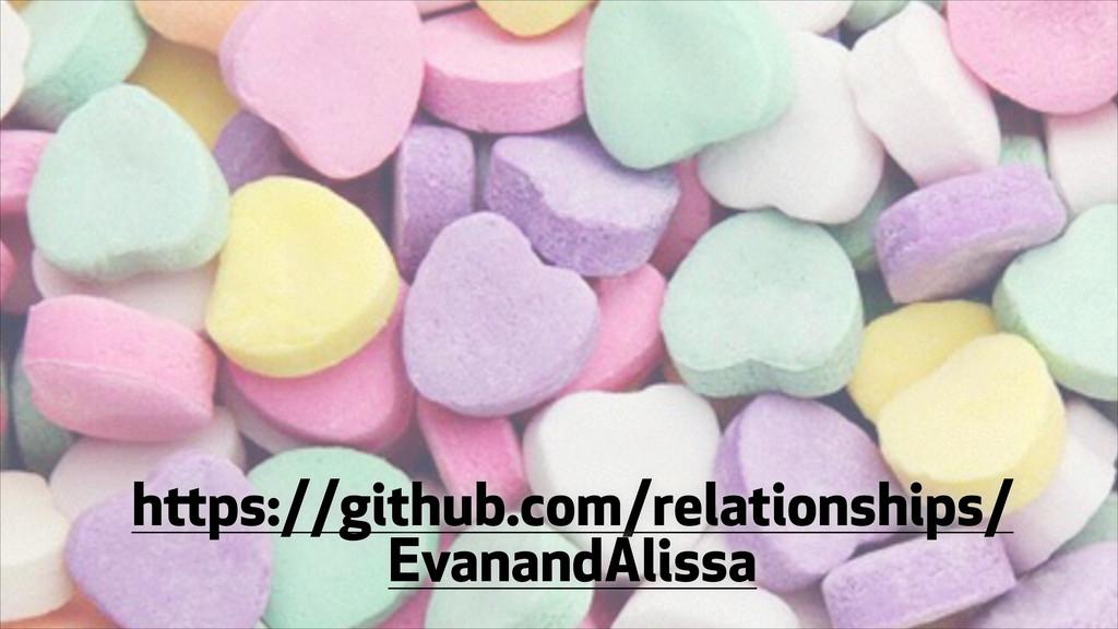 https://github.com/relationships/ EvanandAlissa
