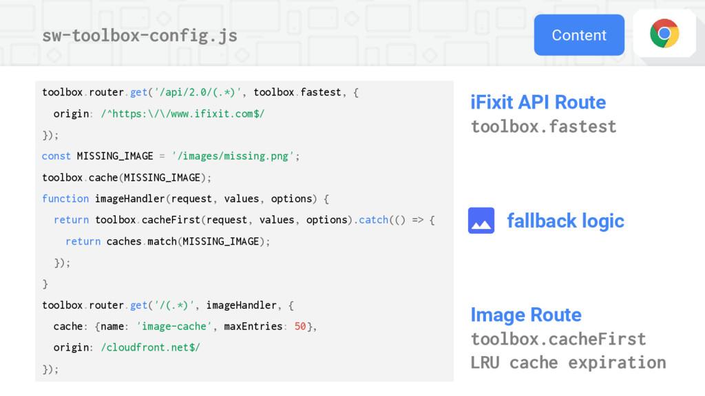 sw-toolbox-config.js Content iFixit API Route t...