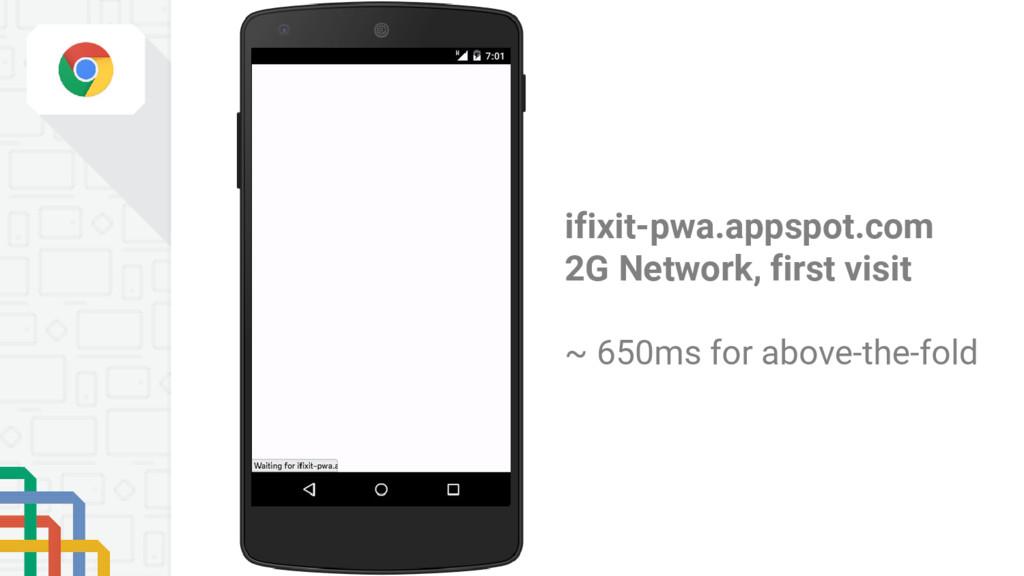 ifixit-pwa.appspot.com 2G Network, first visit ...