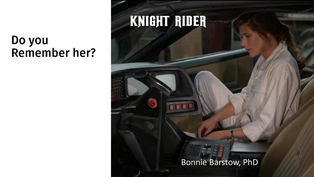 @ManfredSteyer Bonnie Barstow, PhD