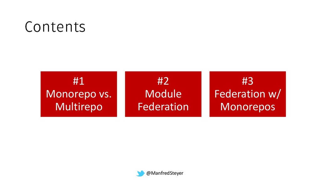@ManfredSteyer #1 Monorepo vs. Multirepo #2 Mod...