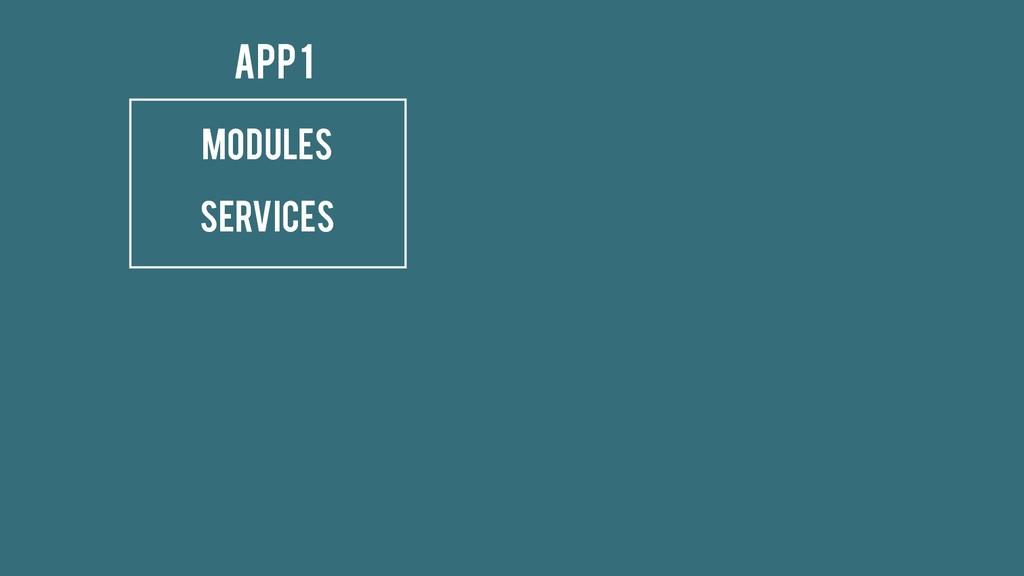 Modules Services App 1
