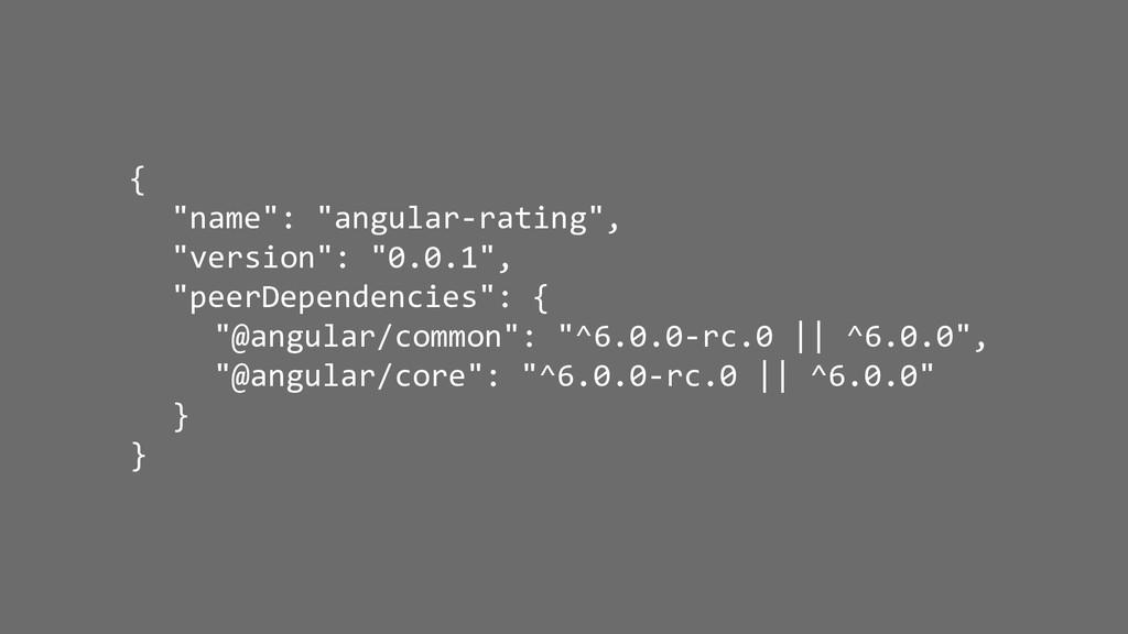 """{ """"name"""": """"angular-rating"""", """"version"""": """"0.0.1"""",..."""