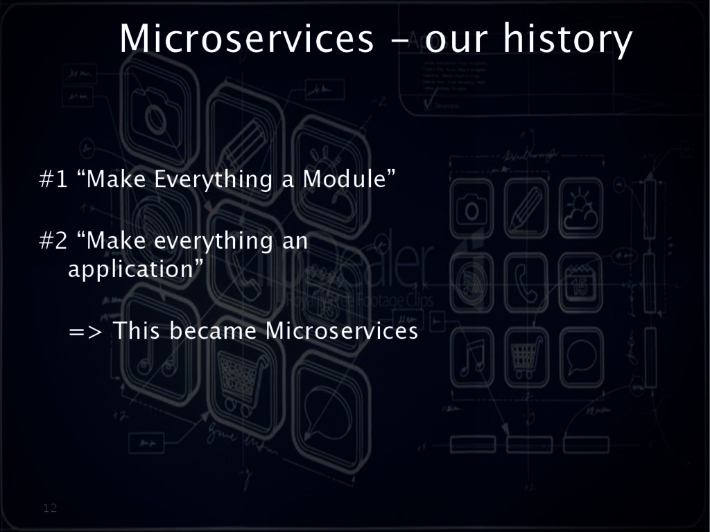 """Microservices - our history 12 #1 """"Make Everyth..."""