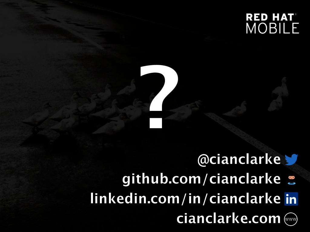 @cianclarke github.com/cianclarke linkedin.com/...