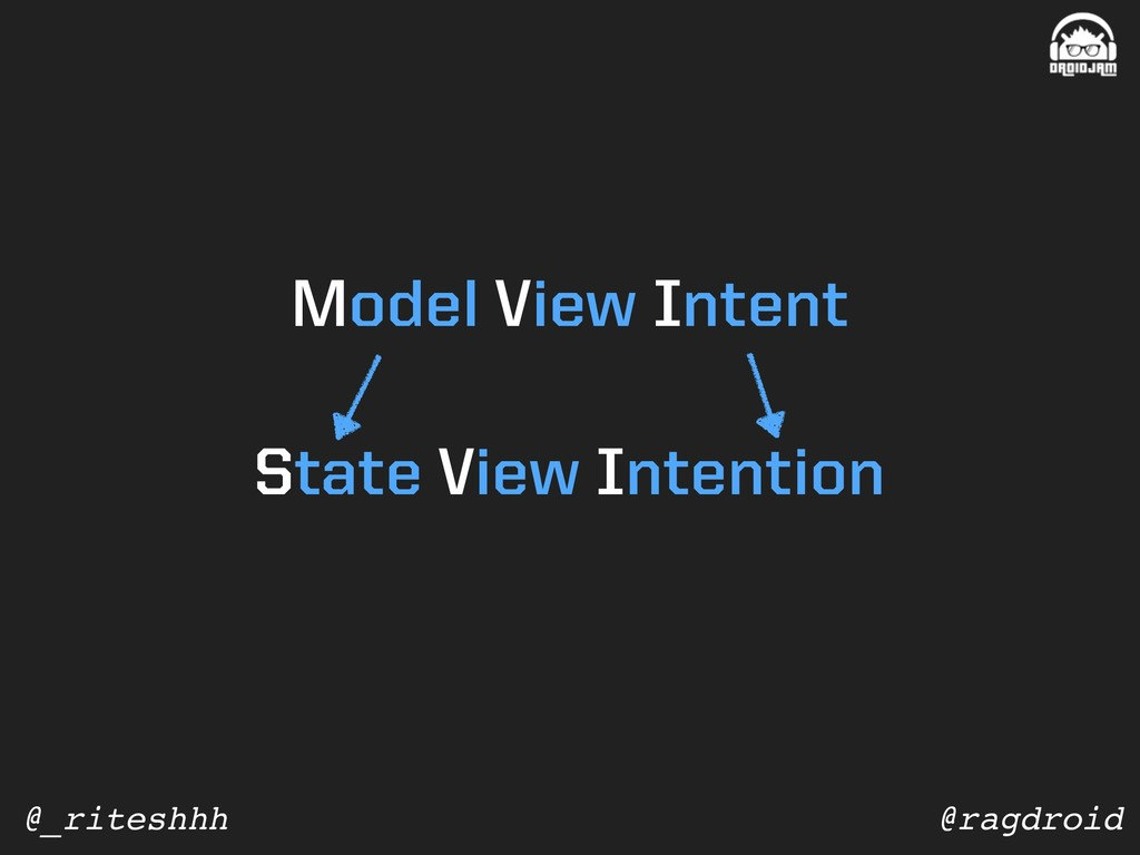 @ragdroid @_riteshhh State View Intention Model...