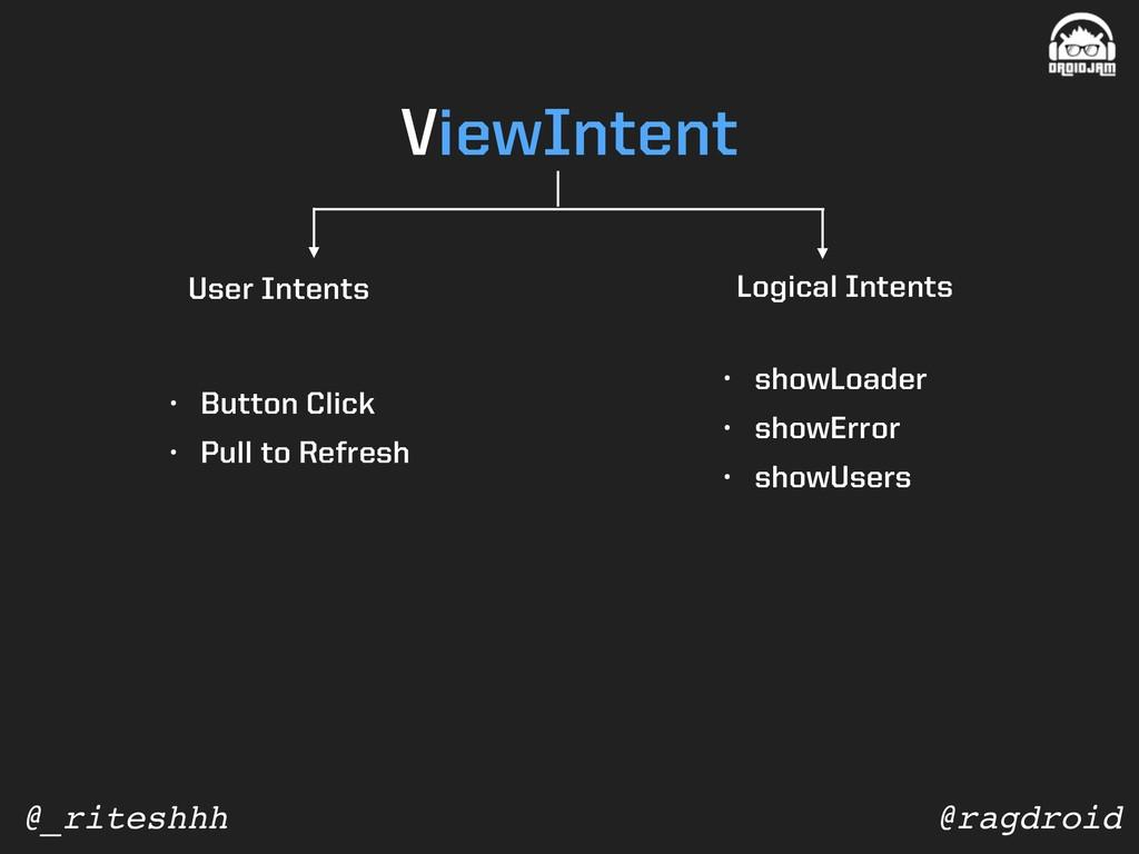 @ragdroid @_riteshhh ViewIntent • Button Click ...