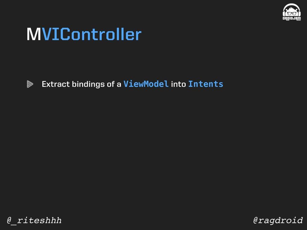 @ragdroid @_riteshhh MVIController Extract bind...