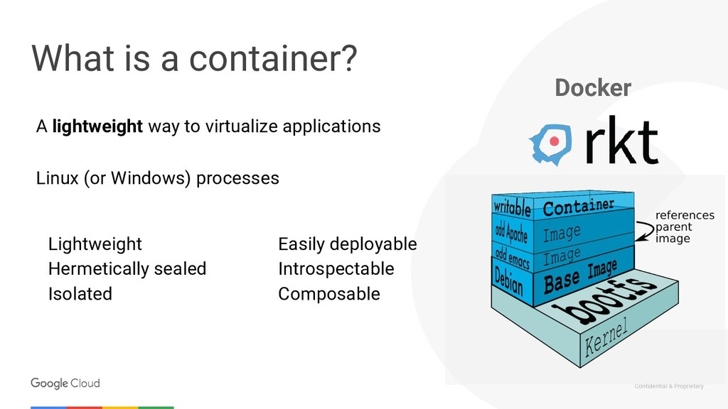 Confidential & Proprietary What is a container?...