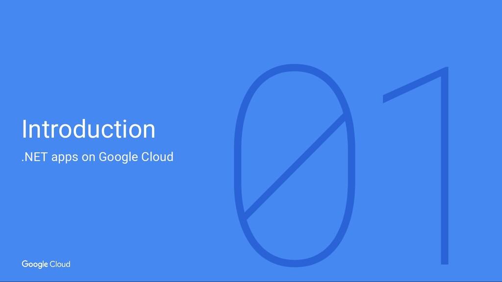 Introduction .NET apps on Google Cloud