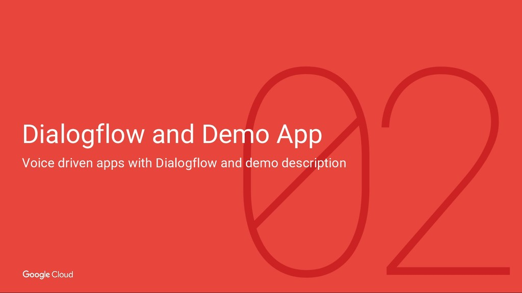 Dialogflow and Demo App Voice driven apps with ...