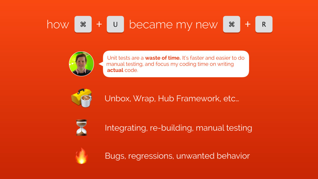 ⌘ U + how became my new ⌘ R + Unit tests are a ...