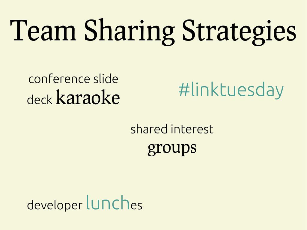 Team Sharing Strategies conference slide deck k...