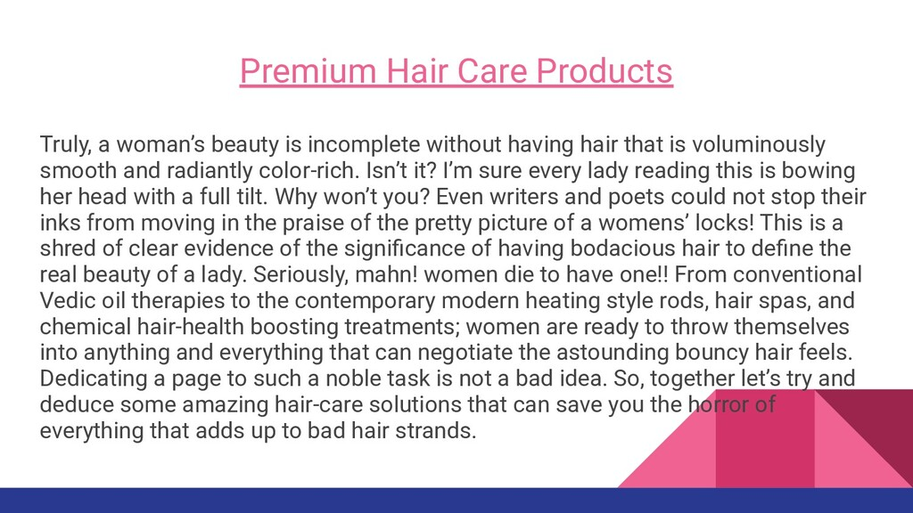 Premium Hair Care Products Truly, a woman's bea...
