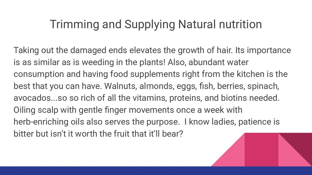 Trimming and Supplying Natural nutrition Taking...