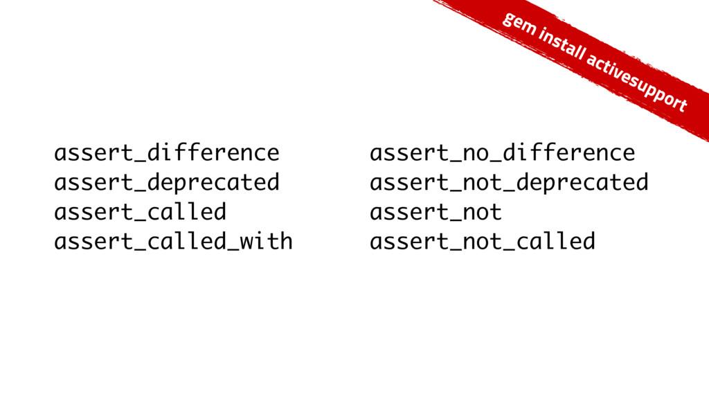 assert_difference assert_deprecated assert_call...