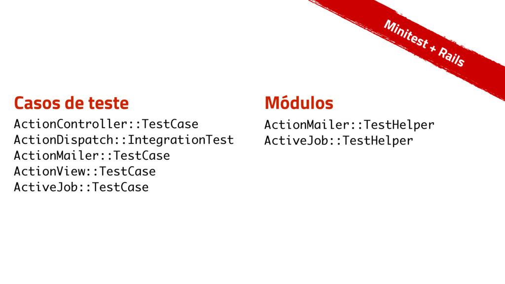 Casos de teste ActionController::TestCase Actio...