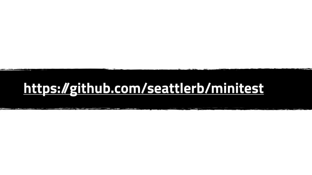 https:/ /github.com/seattlerb/minitest
