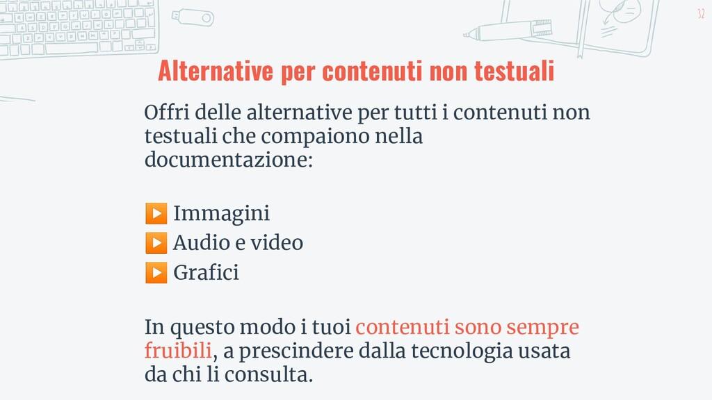 32 Alternative per contenuti non testuali Offri...