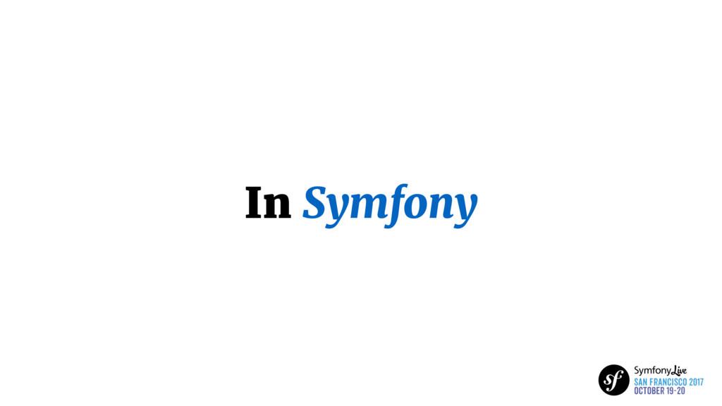 In Symfony