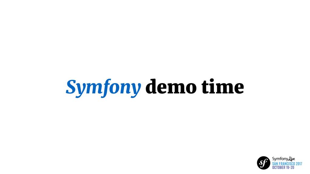 Symfony demo time