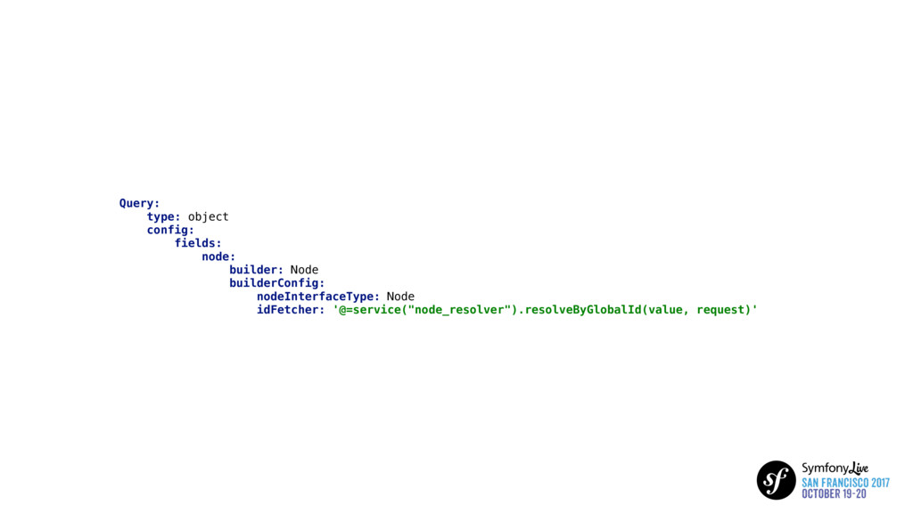 Query: type: object config: fields: node: build...