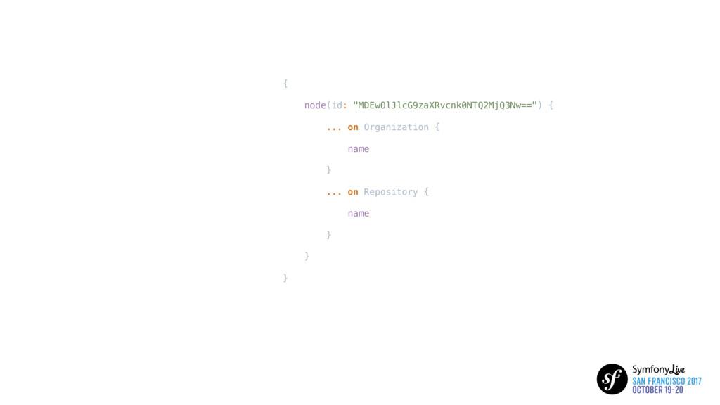 """{ node(id: """"MDEwOlJlcG9zaXRvcnk0NTQ2MjQ3Nw=="""") ..."""