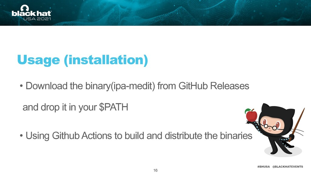 #BHUSA @BLACKHATEVENTS • Download the binary(ip...