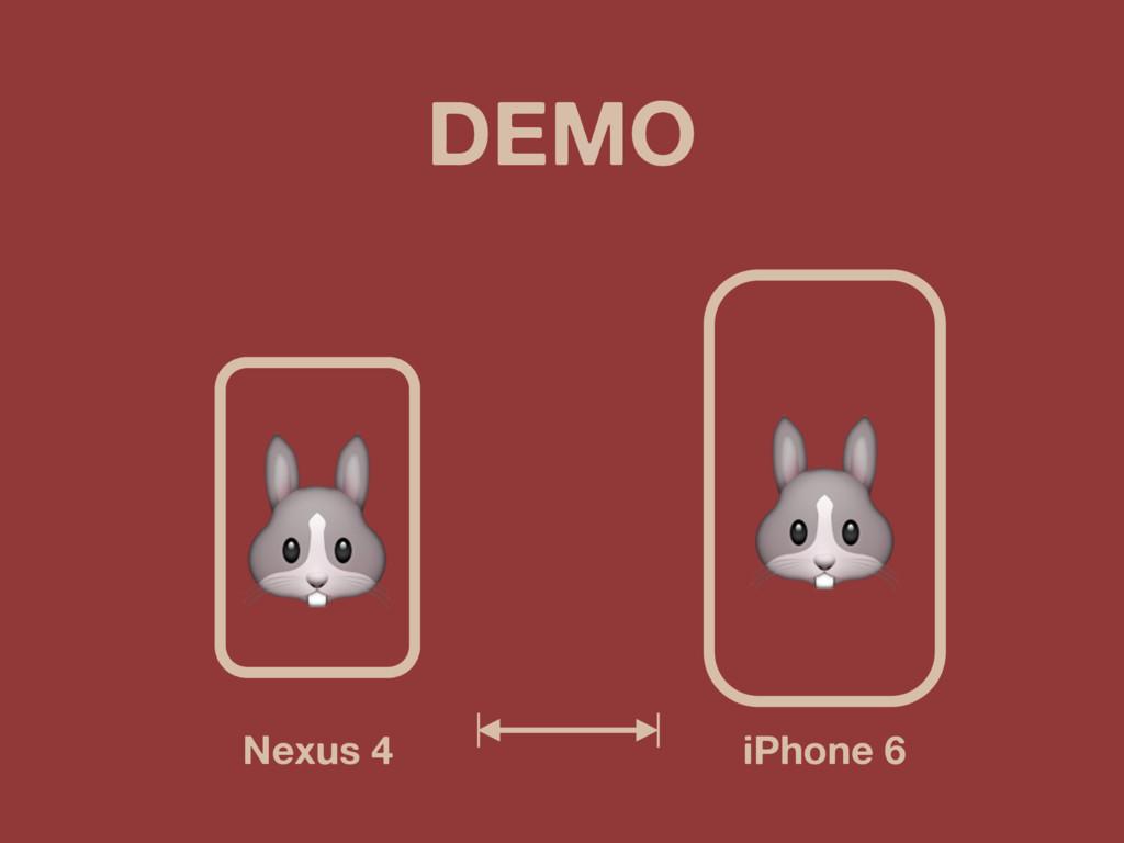 DEMO iPhone 6 Nexus 4