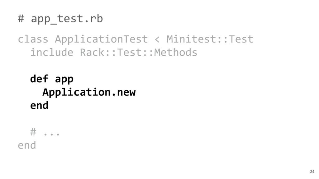 24 # app_test.rb class ApplicationTest < Minite...
