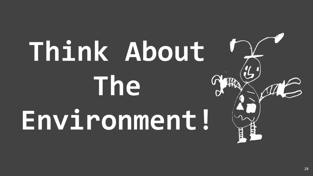 Think About The Environment! 28