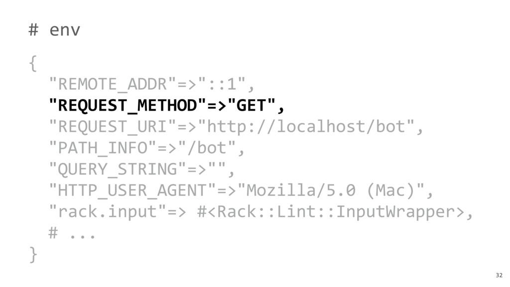 "32 # env { ""REMOTE_ADDR""=>""::1"", ""REQUEST_METHO..."
