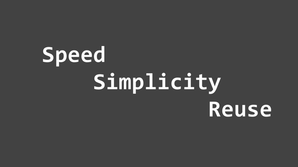 7 Speed Simplicity Reuse