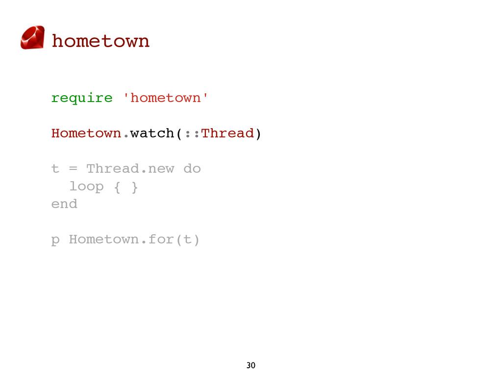 hometown 30 require 'hometown' Hometown.watch(:...