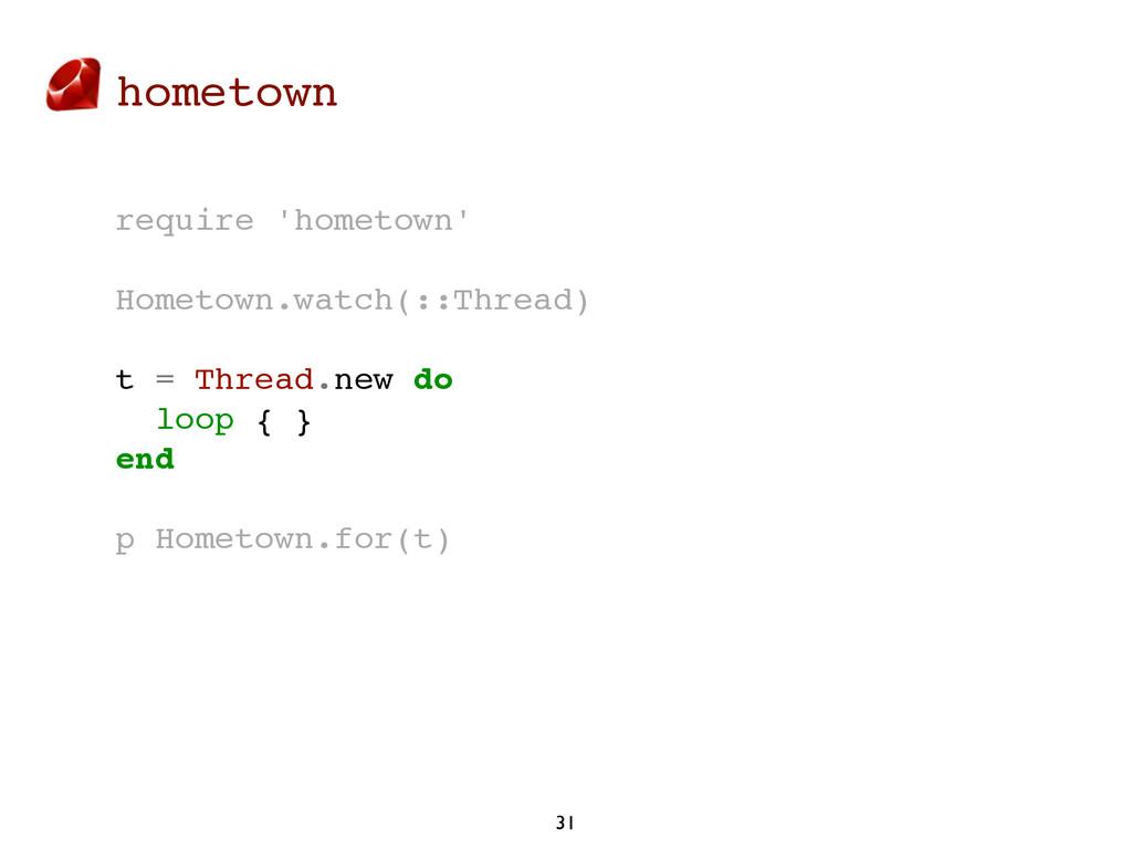 hometown 31 require 'hometown' Hometown.watch(:...
