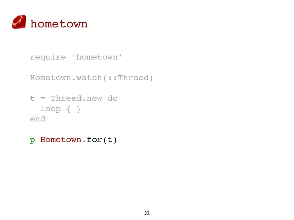 hometown 32 require 'hometown' Hometown.watch(:...